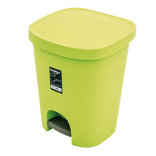 Arts. limpieza Habitex. Cubo pedal 25l verde