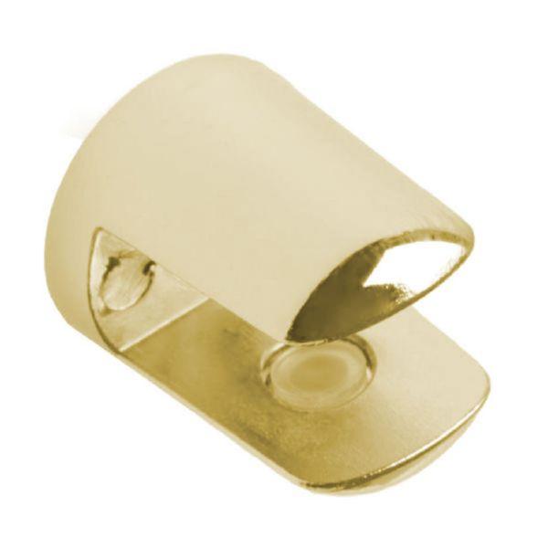 Soporte para estante cristal. 3-6mm. Dorado.